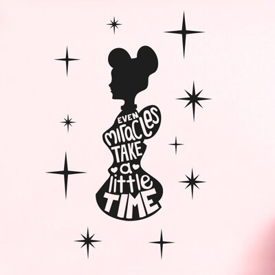 Cut It Out Wall Stickers Even Miracles Take a Little Time Wall Sticker
