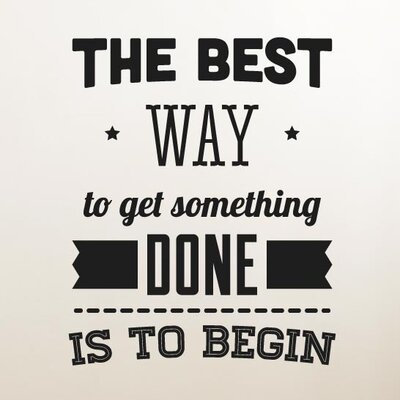 Cut It Out Wall Stickers The Best Way To Get Something Done Wall Sticker