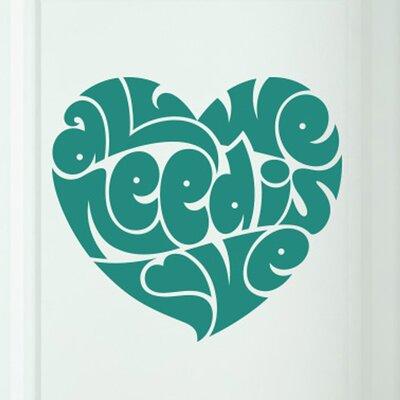 Cut It Out Wall Stickers All We Need Is Love in Heart Shape Door Room Wall Sticker