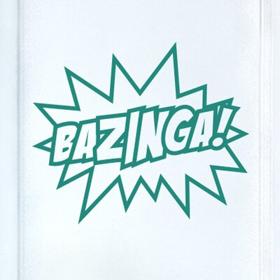 Cut It Out Wall Stickers Bazinga Sheldon Quote from the Big Bang Theory Door Room Wall Sticker