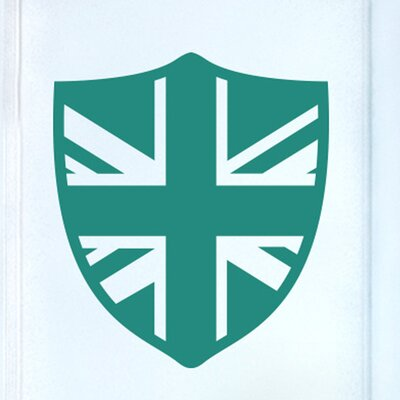 Cut It Out Wall Stickers British Shield Door Room Wall Sticker