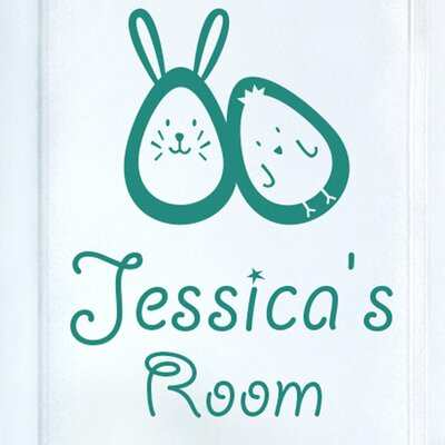 Cut It Out Wall Stickers Bunny Rabbit Egg and Chick Kids Door Room Wall Sticker