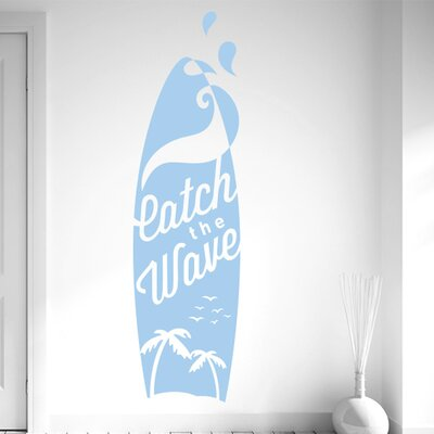 Cut It Out Wall Stickers Catch the Wave Surf Board Wall Sticker