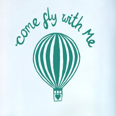 Cut It Out Wall Stickers Come Fly with Me Door Room Wall Sticker