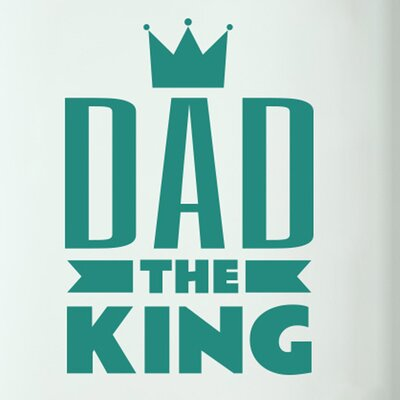 Cut It Out Wall Stickers Dad the King Door Room Wall Sticker