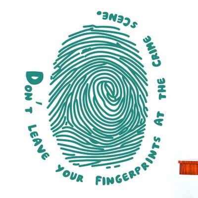 Cut It Out Wall Stickers Don't Leave Your Fingerprints at the Crime Scene Wall Sticker