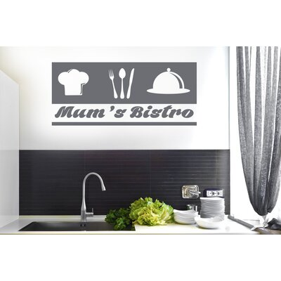 Cut It Out Wall Stickers Mum Bistro Kitchen Sign Wall Sticker