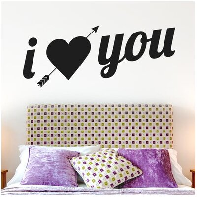 Cut It Out Wall Stickers I Love You Arrow Through Heart Wall Sticker