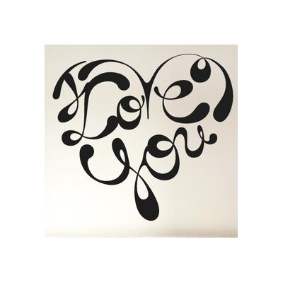 Cut It Out Wall Stickers I Love You In Shape of a Heart Ink Wall Sticker