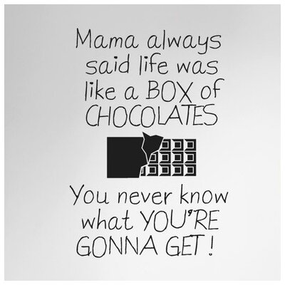 Cut It Out Wall Stickers Mama Always Said Life Is Like a Box of Chocolates Wall Sticker