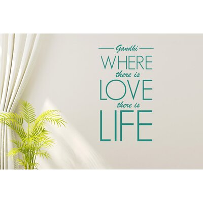 Cut It Out Wall Stickers Gandhi Where There Is Love There Is Life Wall Sticker