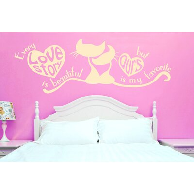 Cut It Out Wall Stickers Every Love Story Is Beautiful But Ours Is My Favourite Wall Sticker