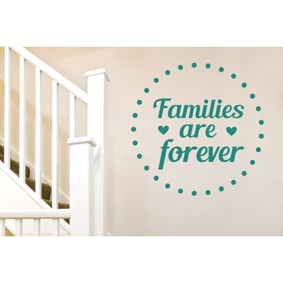 Cut It Out Wall Stickers Families Are Forever Wall Sticker