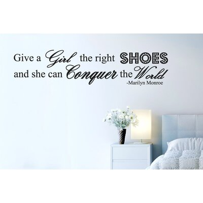 Cut It Out Wall Stickers Give A Girl The Right Shoes And She Can Conquer The World Wall Sticker