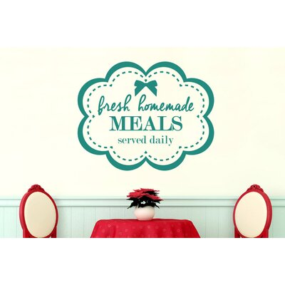 Cut It Out Wall Stickers Fresh Homemade Meals Served Daily Wall Sticker