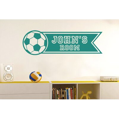Cut It Out Wall Stickers Personalised Football Banner Kids Room Sign Wall Sticker