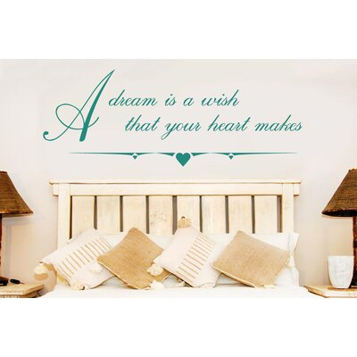 Cut It Out Wall Stickers Dream Is A Wish That Your Heart Makes Wall Sticker