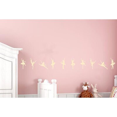 Cut It Out Wall Stickers Ballerinas Dancing In A Row Wall Sticker
