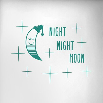 Cut It Out Wall Stickers Night Night Moon Door Room Wall Sticker