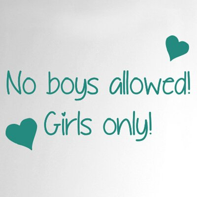 Cut It Out Wall Stickers No Boys Allowed Girls Only Door Room Wall Sticker