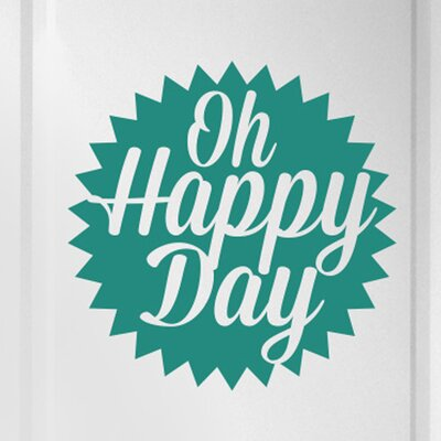 Cut It Out Wall Stickers Oh Happy Day Door Room Wall Sticker