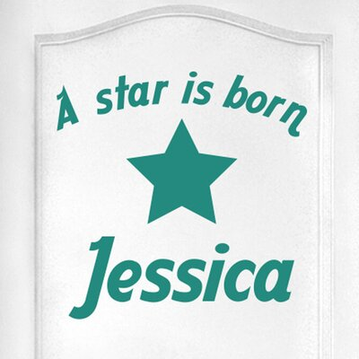 Cut It Out Wall Stickers Personalised a Star Is Born Door Room Wall Sticker