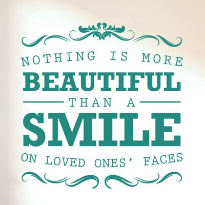 Cut It Out Wall Stickers Nothing Is More Beautiful Than a Smile on Loved Ones Faces Wall Sticker