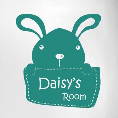 Cut It Out Wall Stickers Personalised Bunny Rabbit Kids Door Room Wall Sticker