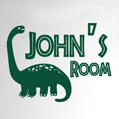 Cut It Out Wall Stickers Personalised Brachiosaurus Dinosaur Boys Door Room Wall Sticker