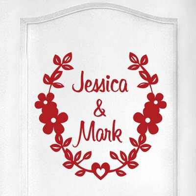 Cut It Out Wall Stickers Personalised Couples Name Door Room Wall Sticker