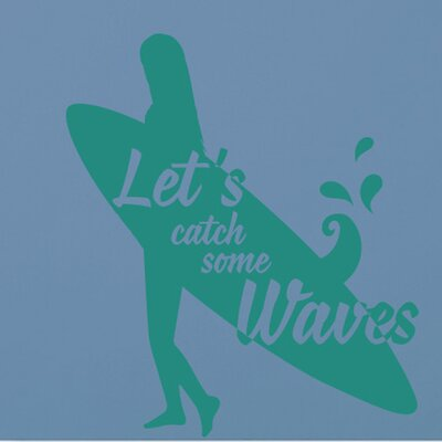 Cut It Out Wall Stickers Lets Catch Some Waves Large Wall Sticker