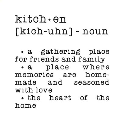 Cut It Out Wall Stickers Kitchen Dictionary Definition Wall Sticker