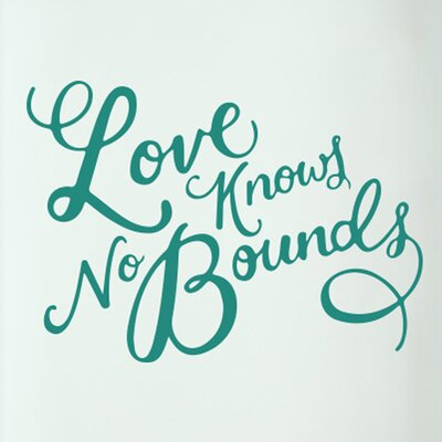 Cut It Out Wall Stickers Love Knows No Bounds Door Room Wall Sticker