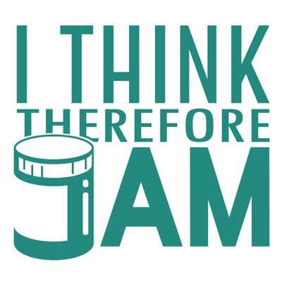 Cut It Out Wall Stickers I Think Therefore Jam Wall Sticker