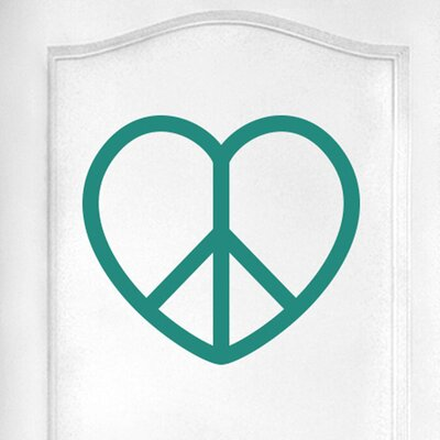 Cut It Out Wall Stickers Love Peace Heart Door Room Wall Sticker