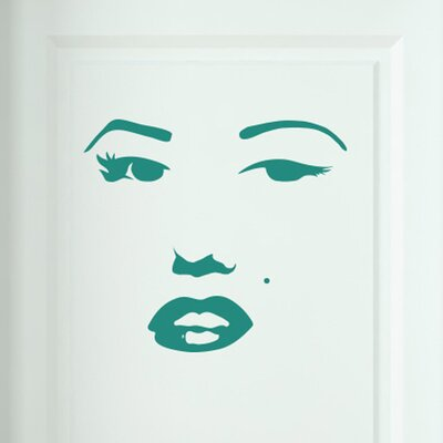 Cut It Out Wall Stickers Marilyn Monroe Face Door Room Wall Sticker