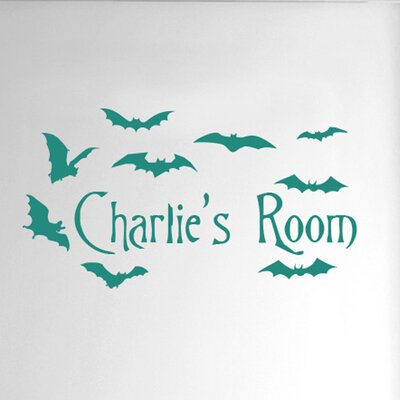 Cut It Out Wall Stickers Personalised Flying Bats Kids Door Room Wall Sticker