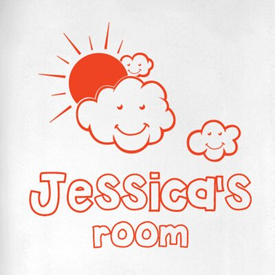 Cut It Out Wall Stickers Personalised in the Clouds Kids Door Room Wall Sticker