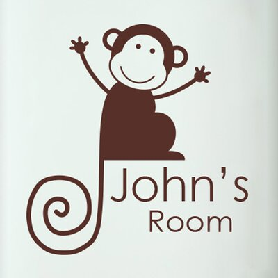 Cut It Out Wall Stickers Personalised Monkey Boys Door Room Wall Sticker
