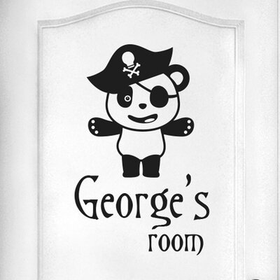 Cut It Out Wall Stickers Personalised Pirate Panda Door Room Wall Sticker