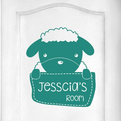 Cut It Out Wall Stickers Personalised Sheep Kids Door Room Wall Sticker