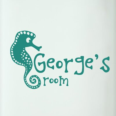 Cut It Out Wall Stickers Personalised Seahorse Kids Door Room Wall Sticker