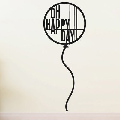 Cut It Out Wall Stickers Balloon Oh Happy Day Wall Sticker