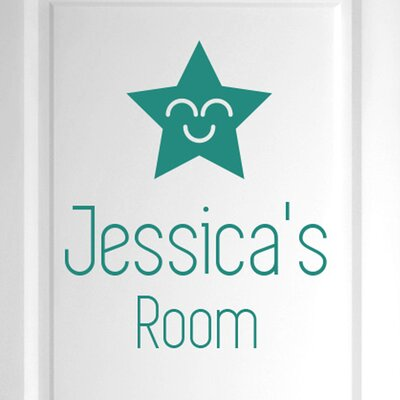 Cut It Out Wall Stickers Personalised Smiling Star Door Room Wall Sticker