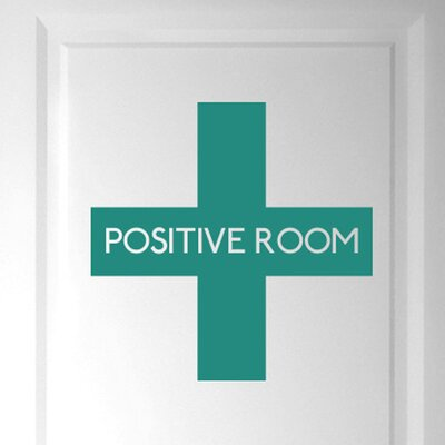 Cut It Out Wall Stickers Positive Room Door Wall Sticker