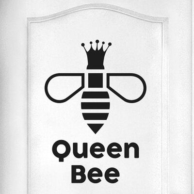 Cut It Out Wall Stickers Queen Bee Door Room Wall Sticker