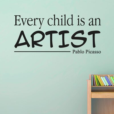 Cut It Out Wall Stickers Every Child Is An Artist Pablo Picasso Wall Sticker