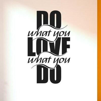 Cut It Out Wall Stickers Do What You Love What U Do Intertwined Wall Sticker