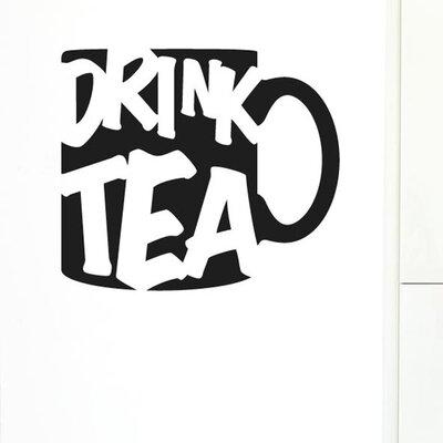 Cut It Out Wall Stickers Drink Tea Wall Sticker