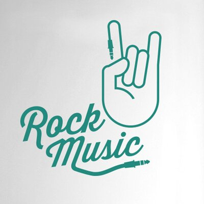 Cut It Out Wall Stickers Rock Music Hand Door Room Wall Sticker